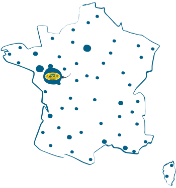 Carte France des magasins bio