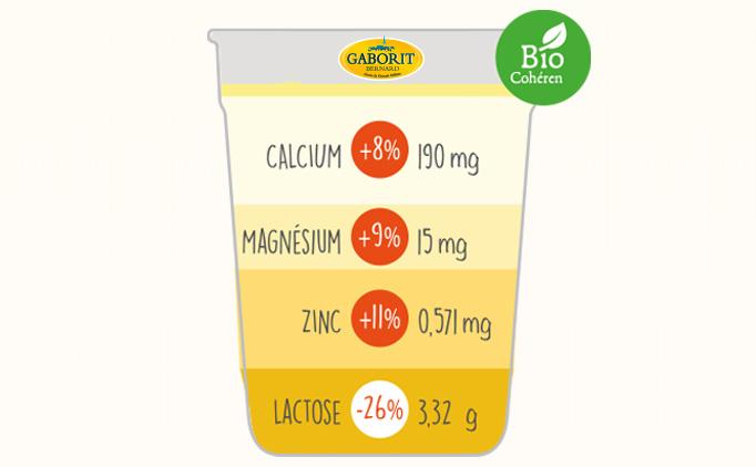 Minéraux et vitamines dans le yaourt