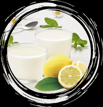 Verrines de yaourt au citron