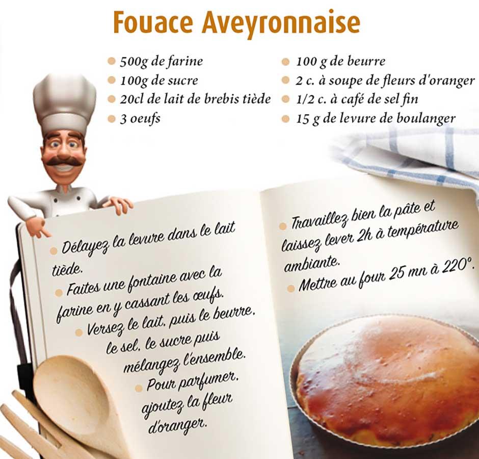 Recette fouace Aveyronnaise