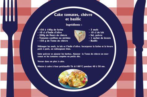 Cake bio tomate chèvre basilic