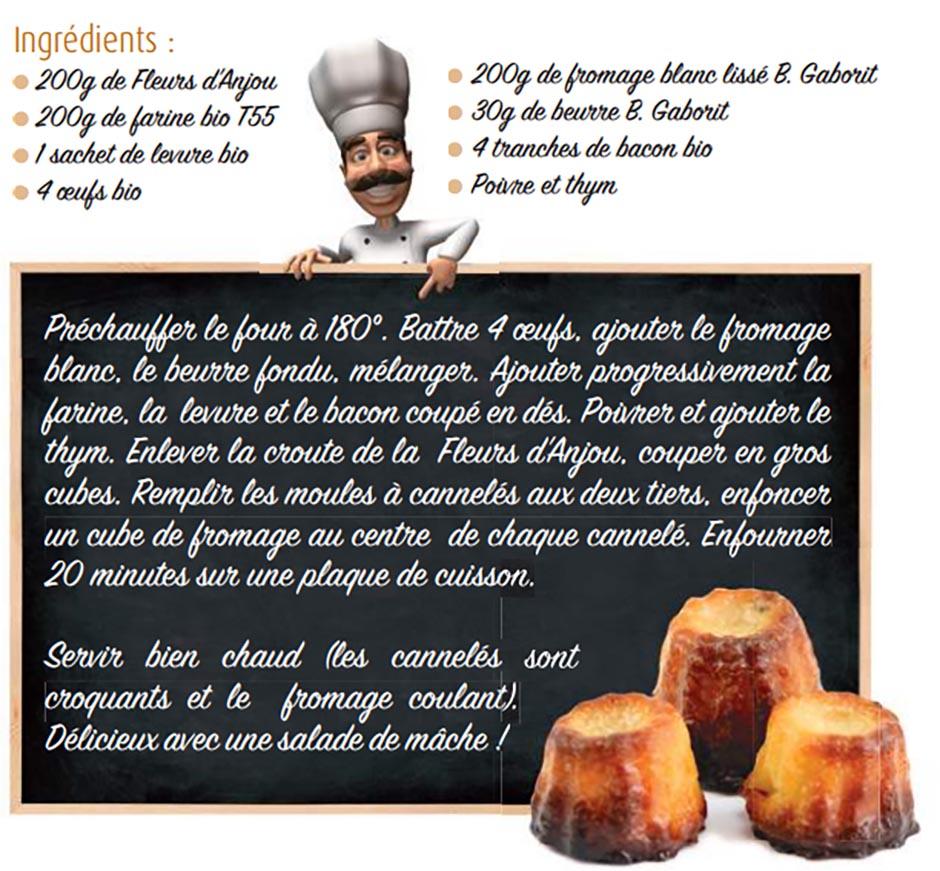 Recette cannelés salés au fromage bio