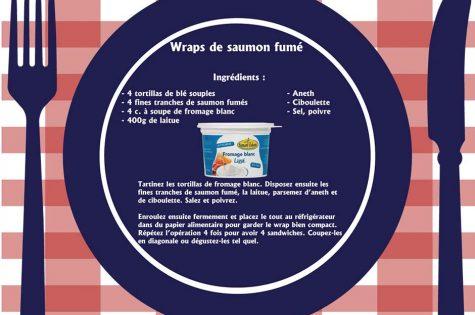 recette wrap au saumon fumé et au fromage blanc