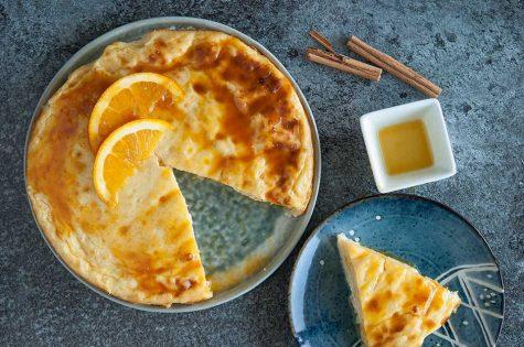 Gâteau de riz et orange bio