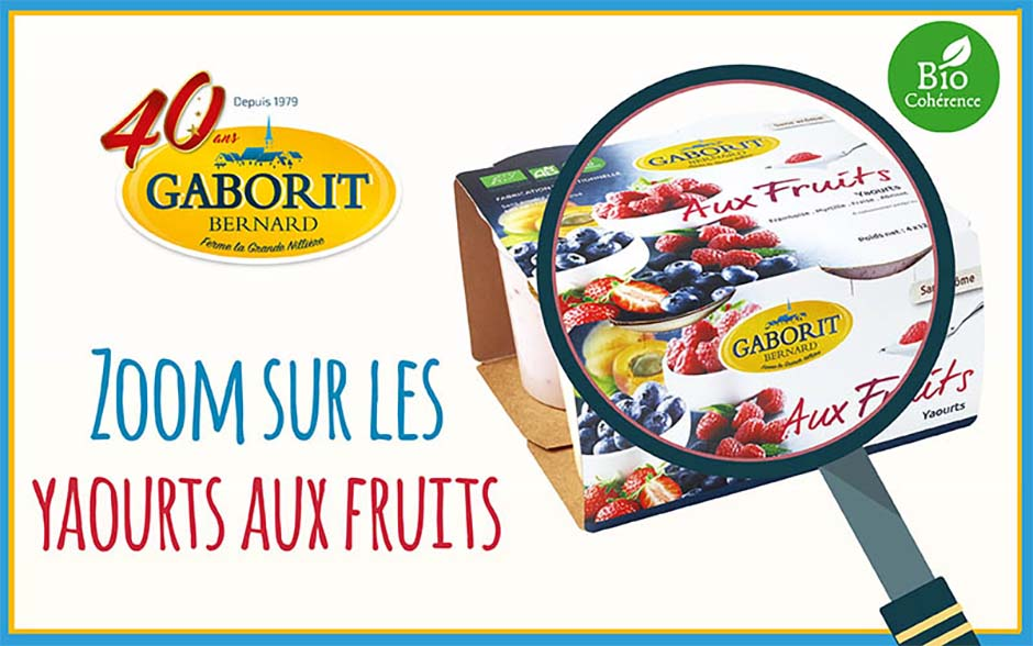 Zoom sur les yaourts bio aux fruits