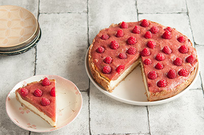Recette tarte rhubarbe framboise