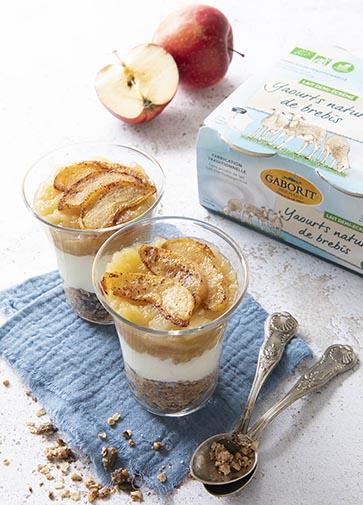 Verrine bio yaourt pomme