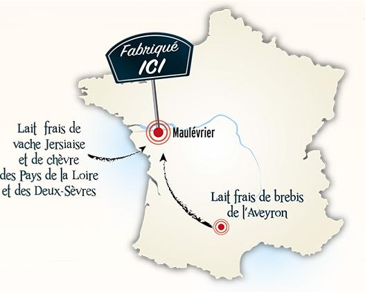 Carte France des producteurs locaux