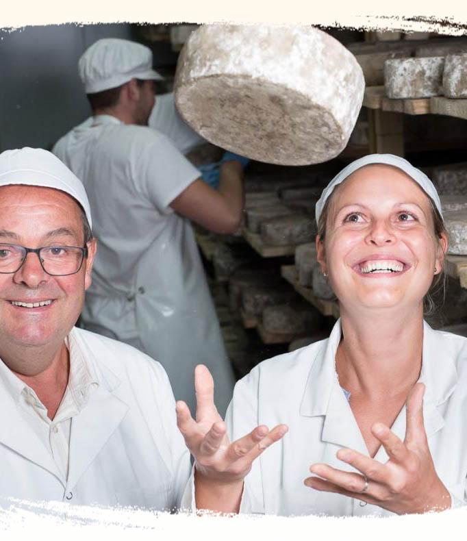 Bernard et Marie Gaborit - fromagerie bio